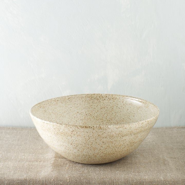 Image of Large creamy speckled bowl