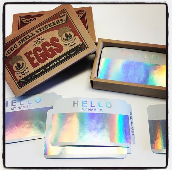 Image of EGGSHELL STICKERS HOLOGRAM BLANKS