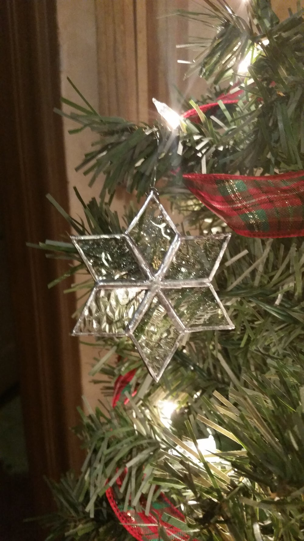 Image of Mini snowflake set-stained glass