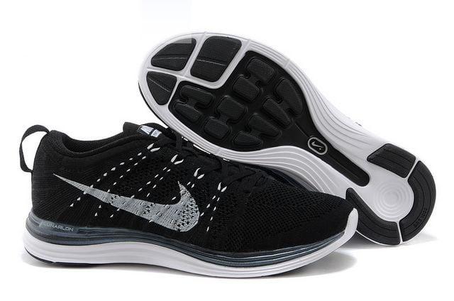 best service 960ca b531a Nike Flyknit Lunar Black Mens Running Shoes