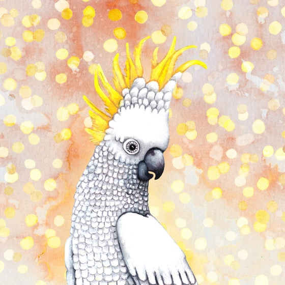 Image of  Cockatoo - A4 Giclée art print on HAHNEMUHLE photo rag paper