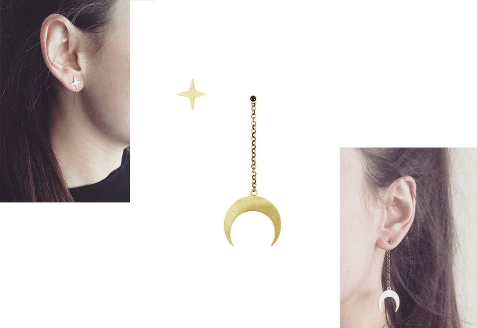 Image of Moon-Star Earrings
