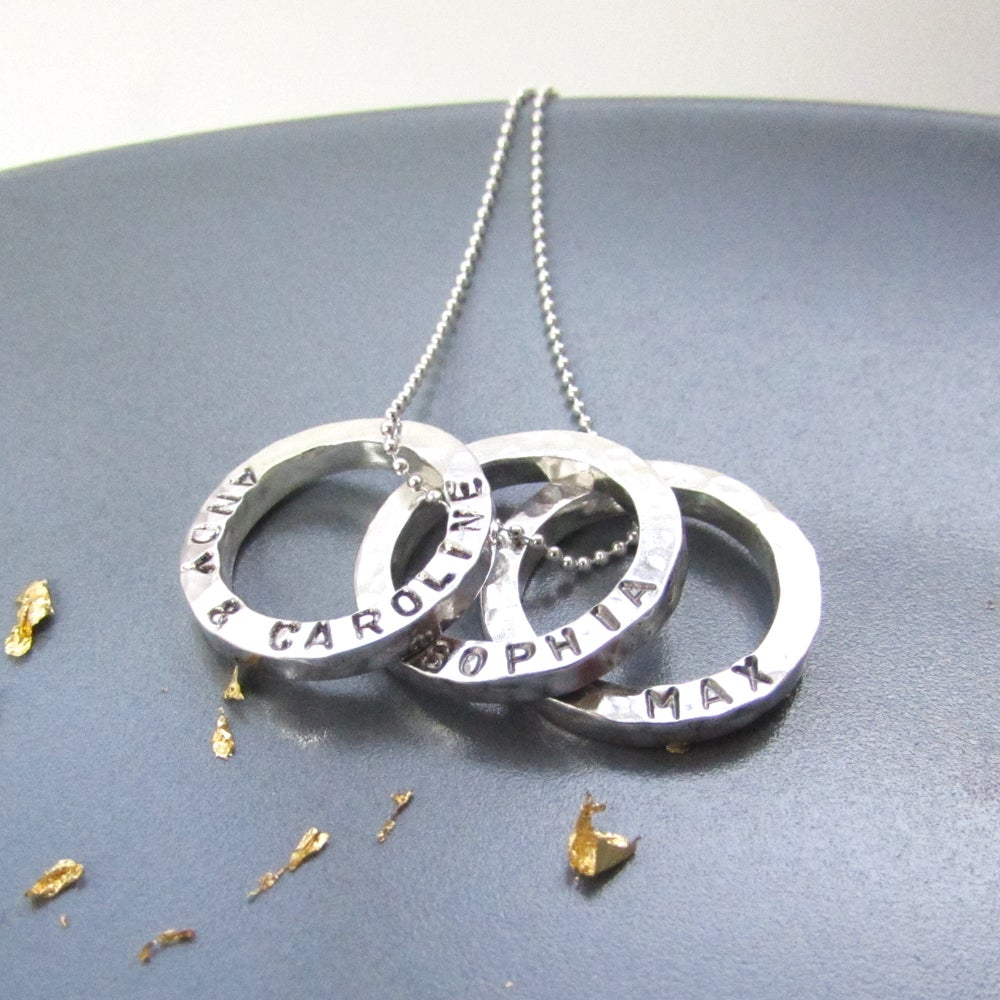 52a95085936a6 Personalised Mini Circles Name Necklace