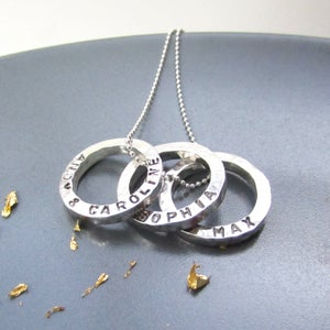 Image of Personalised Mini Circles Name Necklace
