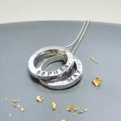 Image of Personalised Two Mini Circles Name Necklace