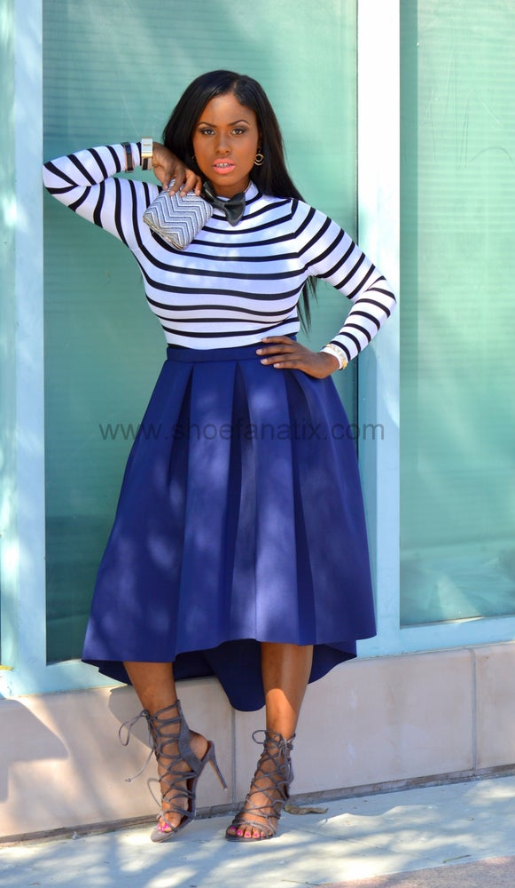 Image of RYAN Hi-Lo Scuba Skirt