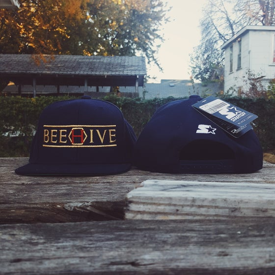 Image of BEEHIVE x black label Starter Brand - navy/metallic gold