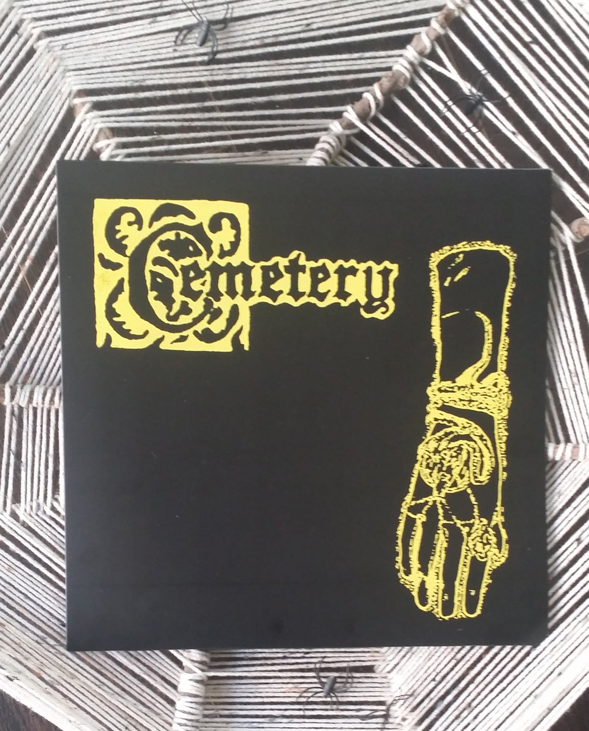"Image of Cemetery ""Demo"" LP ltd screen printed cover"