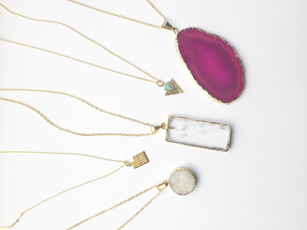 Image of Agate Slice Necklace