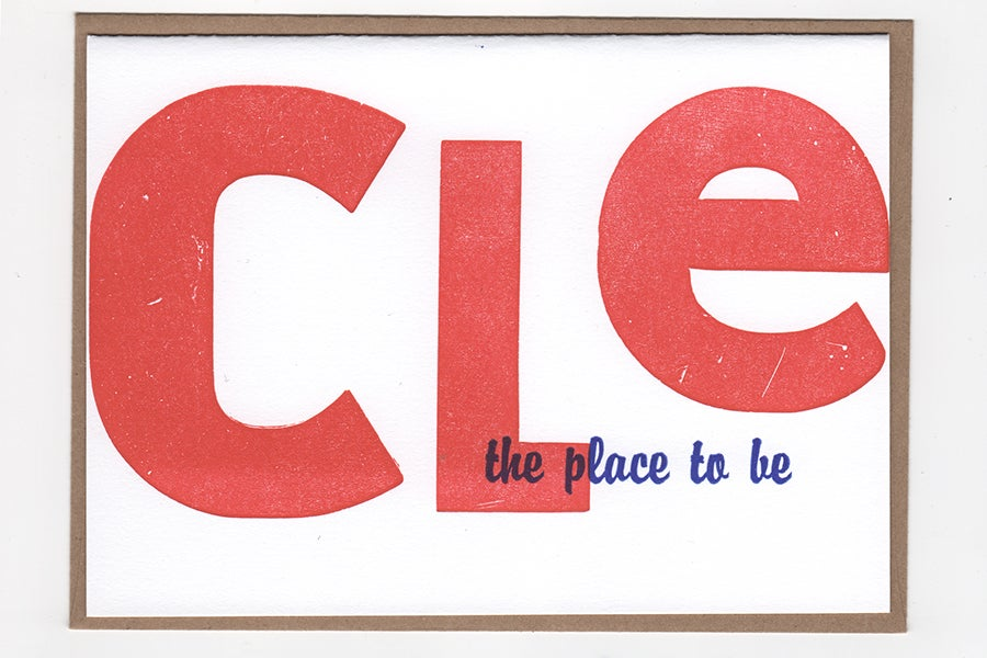 Image of CLE place to be NOTECARD