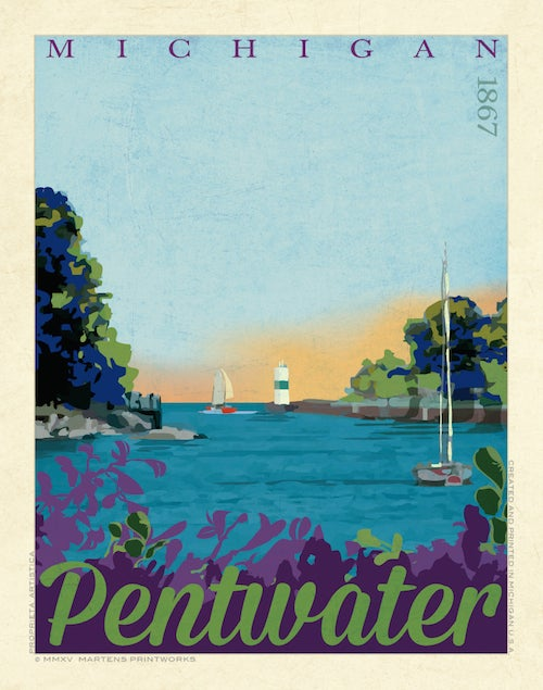 Image of Pentwater Limited Edition 11x14 Print No. [051]