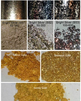 Image of Gold & Silver Pigment/Flakes Sampler