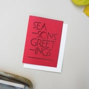 Image of Red laser cut holiday card