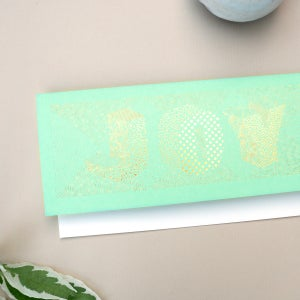 Image of Mint green and gold foil