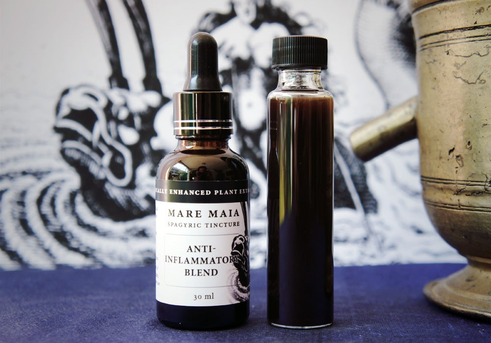 Image of ANTI-INFLAMMATORY BLEND spagyric tincture - alchemically enhanced plant extraction