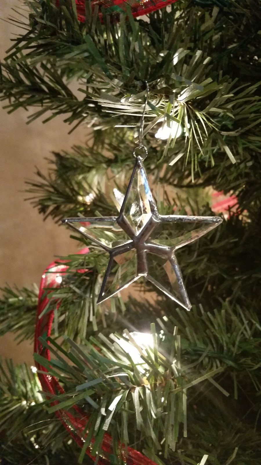 Image of Extra Small Beveled Star-stained glass