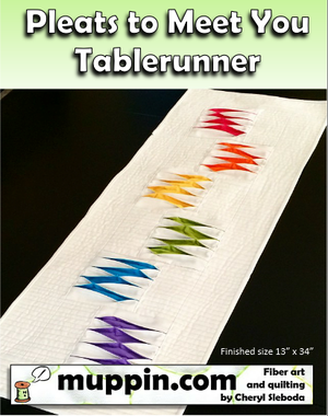 Image of PRECUT KIT- Pleats To Meet You Tablerunner Kit with Fabric