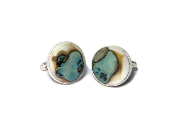 Riverside Cufflinks - Laura Pettifar Designs