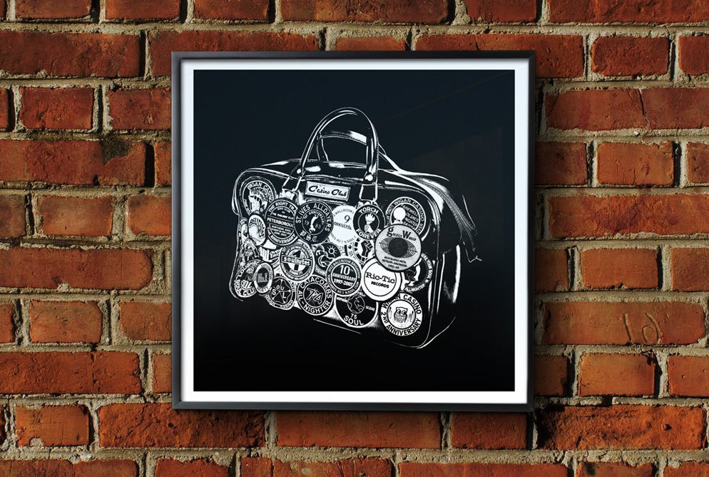 Image of 'All Nighter Bag' Framed Print