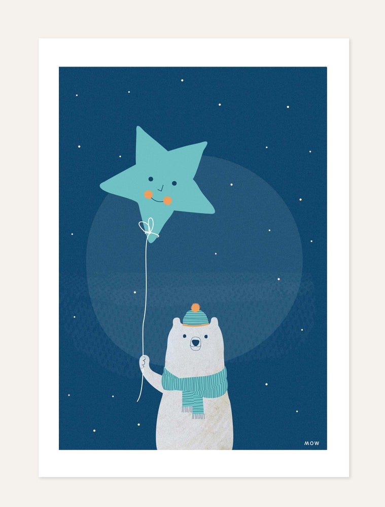 "Image of ""The Bear and Star"" print"
