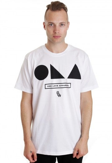 Image of [S6] Shapes White T-Shirt