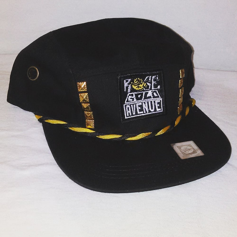 Image of Rose Gold Avenue 5 Panel w/ Studs