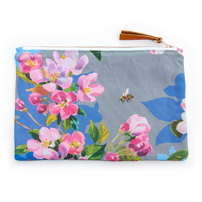 Image of Wild Apple & Honey Bee Canvas Pouch #1