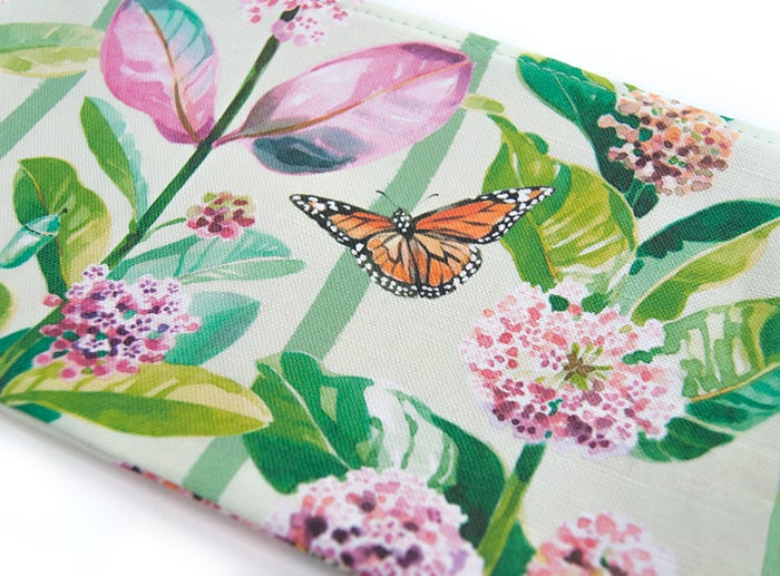 Image of Monarchs & Milkweed Canvas Pouch #3