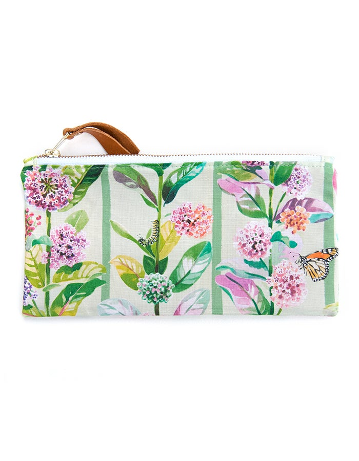 Image of Monarchs & Milkweed Canvas Pouch #4