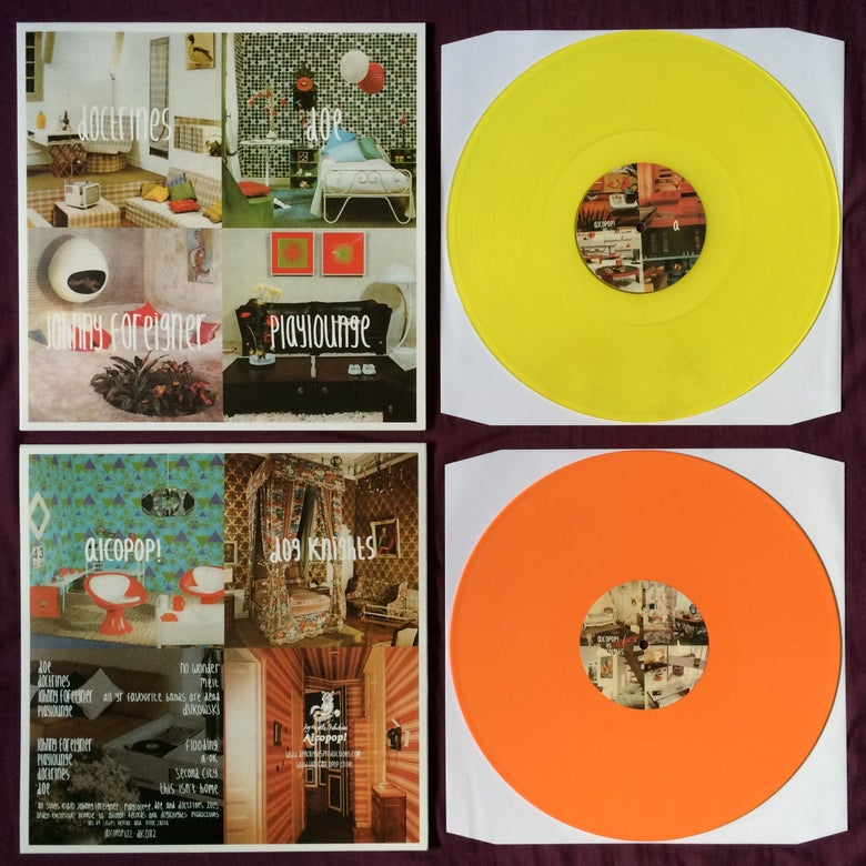 Image of Alcopop vs Dog Knights split LP
