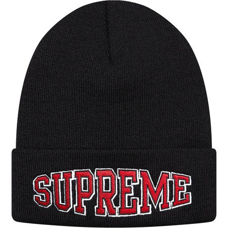 Image of Supreme - Warp Logo Beanie (Black)