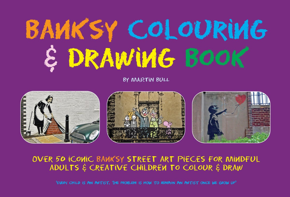 Image of Banksy Colouring & Drawing Book - FREE UK delivery