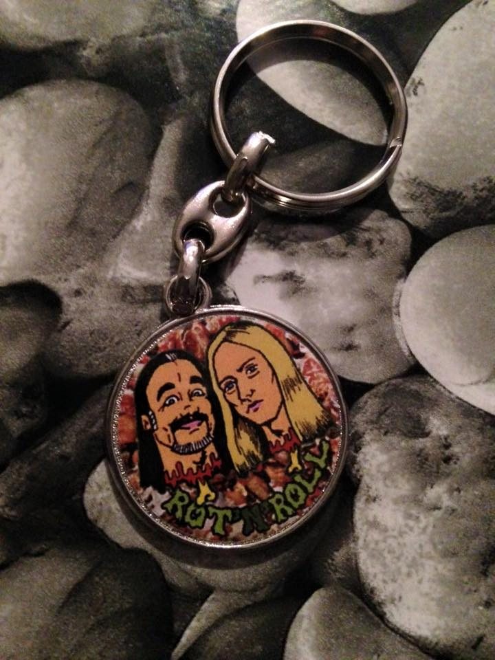 Image of Rot 'n' Roll keyring
