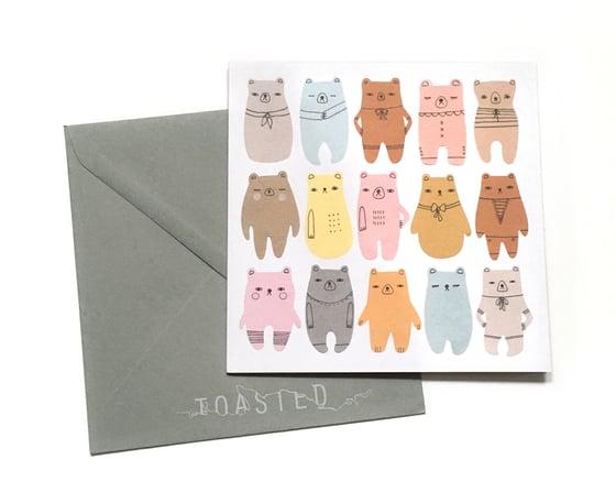 Image of Bear Parade Greeting Card