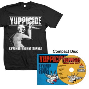 "Image of YUPPICIDE ""REVENGE REGRET REPEAT"" CD and Shirt"