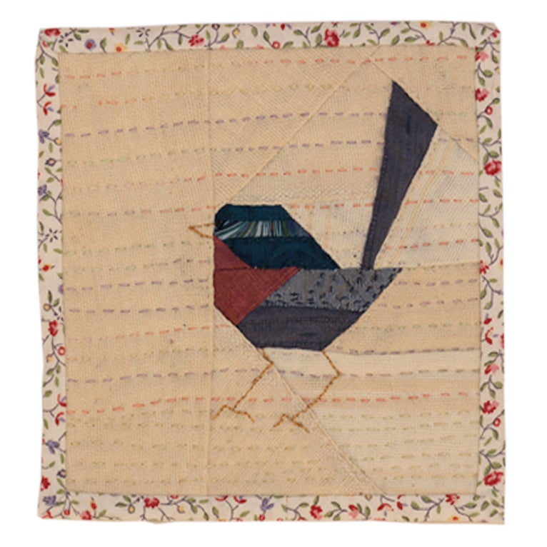 Image of Quilted Bird Wall Hanging - 3