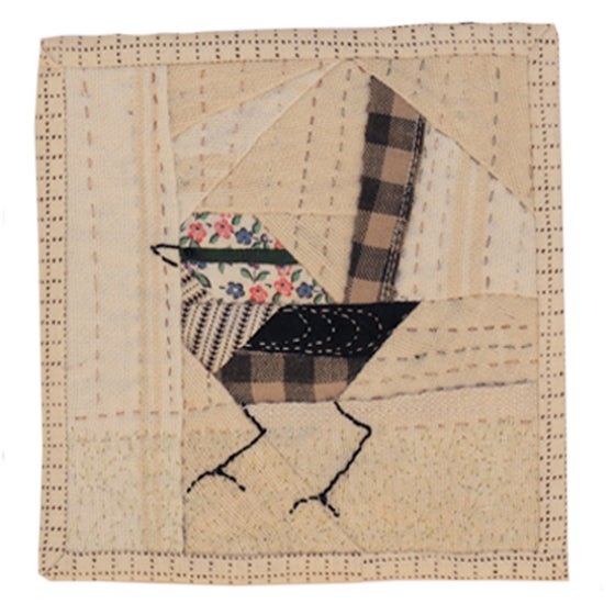 Image of Quilted Bird Wall Hanging - 4