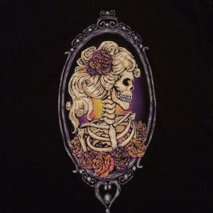 "Image of ""Skeleton Cameo"" T-Shirt in Black"