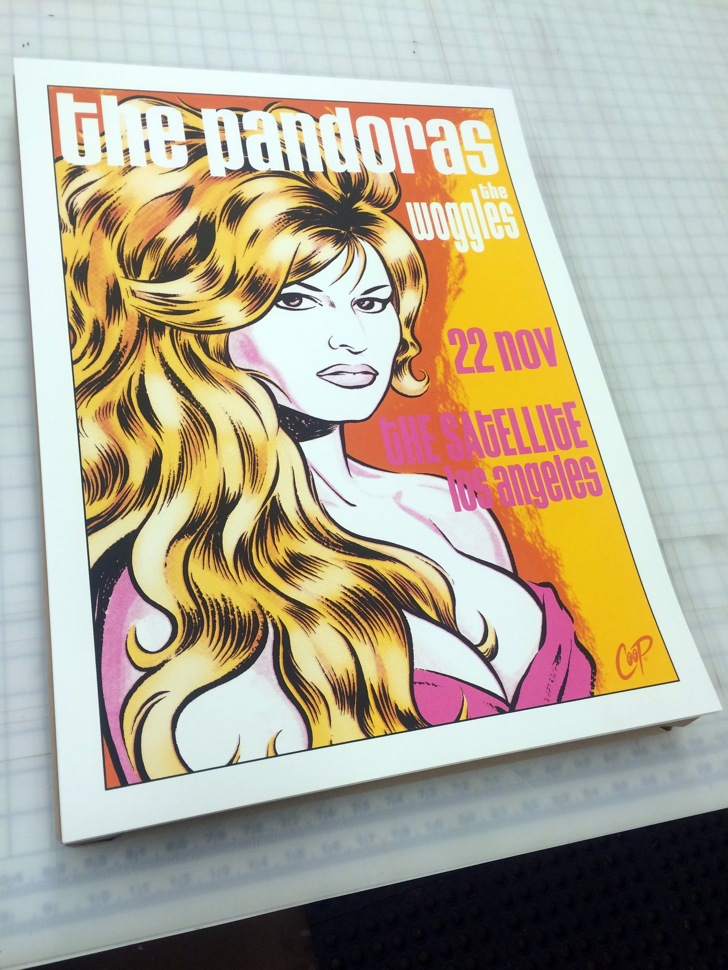 Image of PANDORAS/WOGGLES at the Satellite - silkscreen print