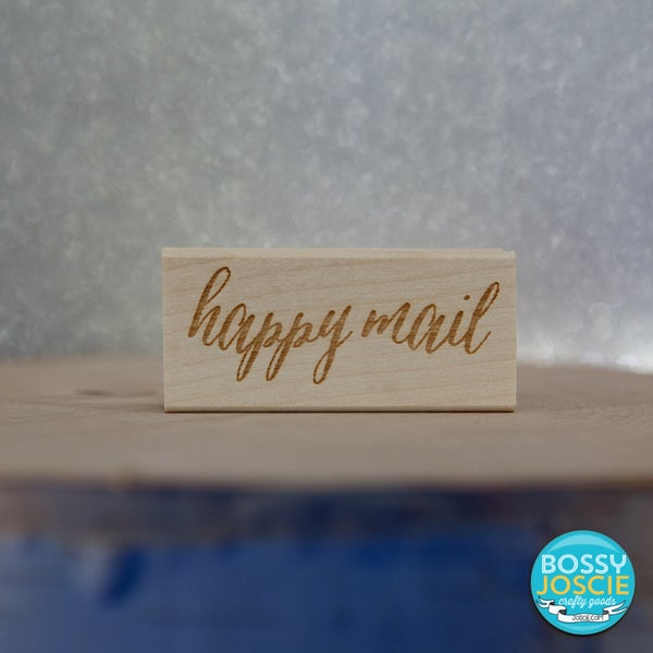 Image of Calligraphy happy mail stamp