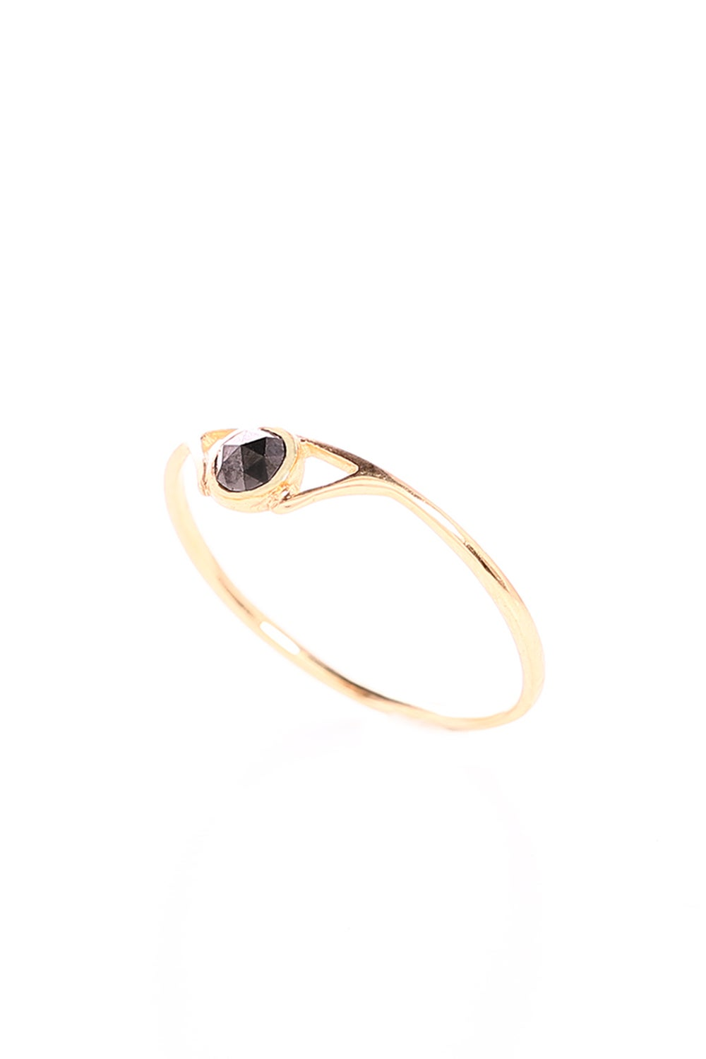 BLACK DIAMOND SUSPENSE RING