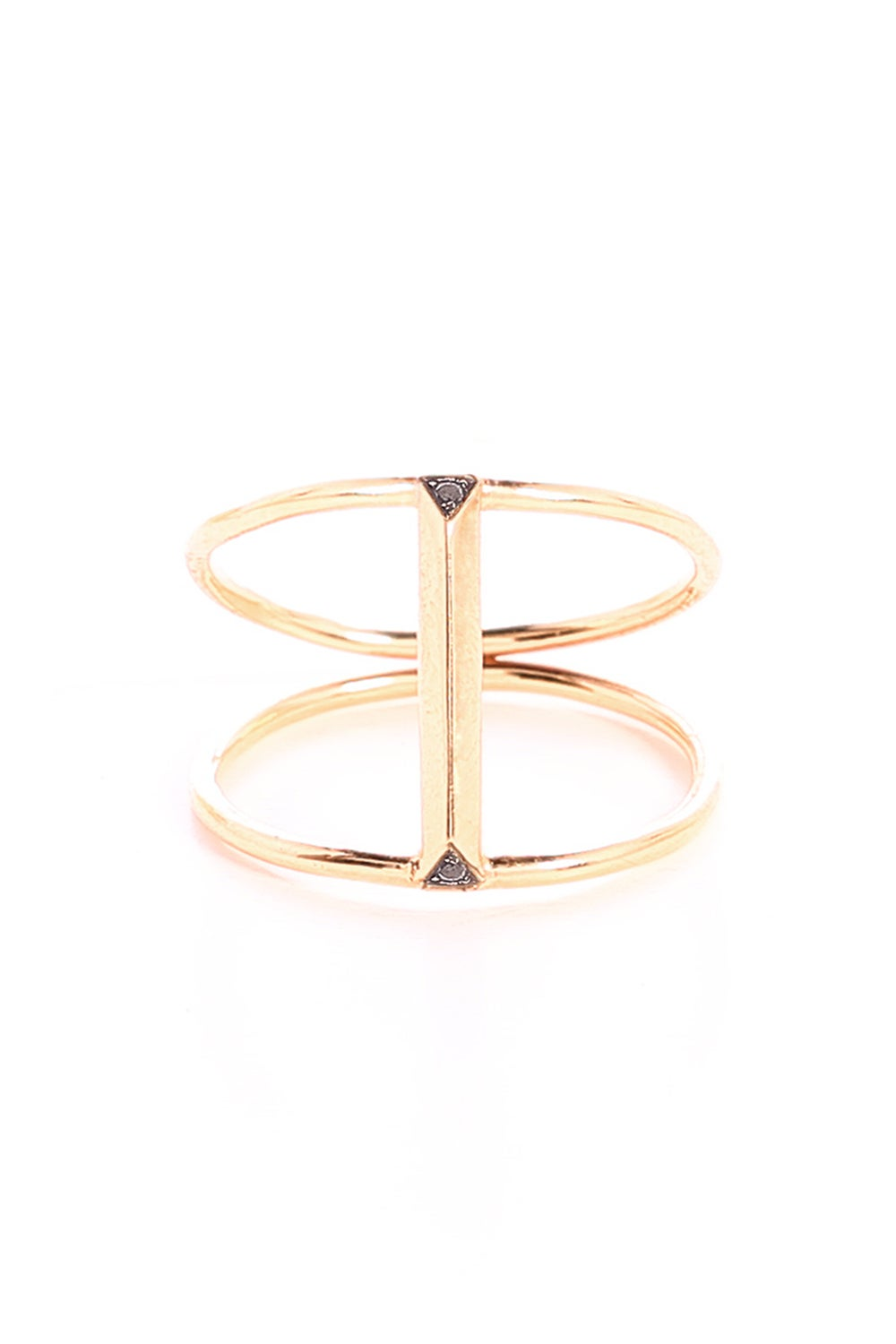 BLACK DIAMOND BAR BRIDGE RING