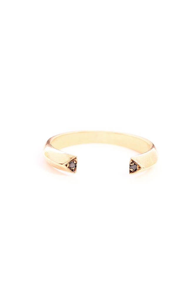 Image of BLACK DIAMOND FAVOR RING