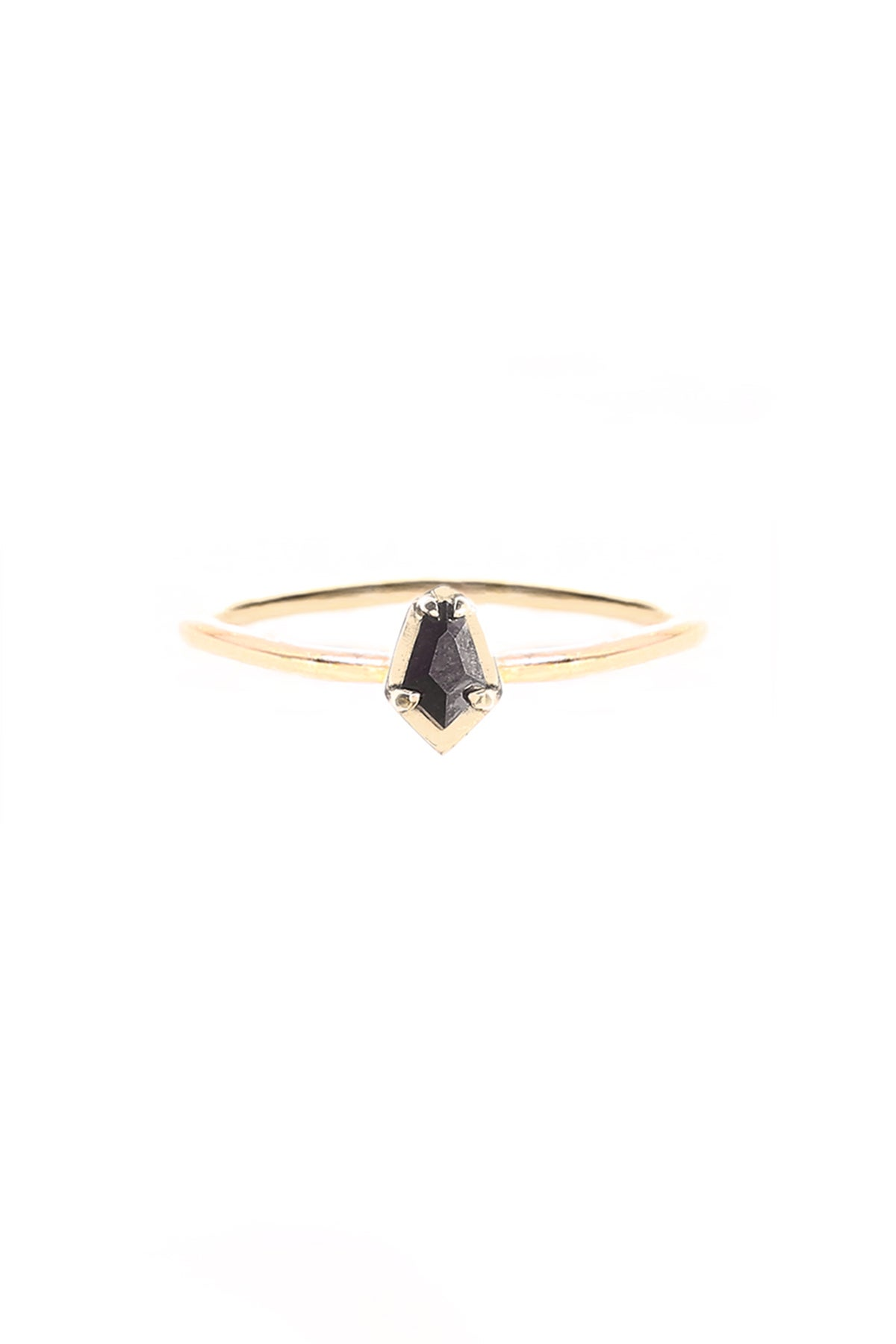 Image of BLACK DIAMOND SCARAB RING