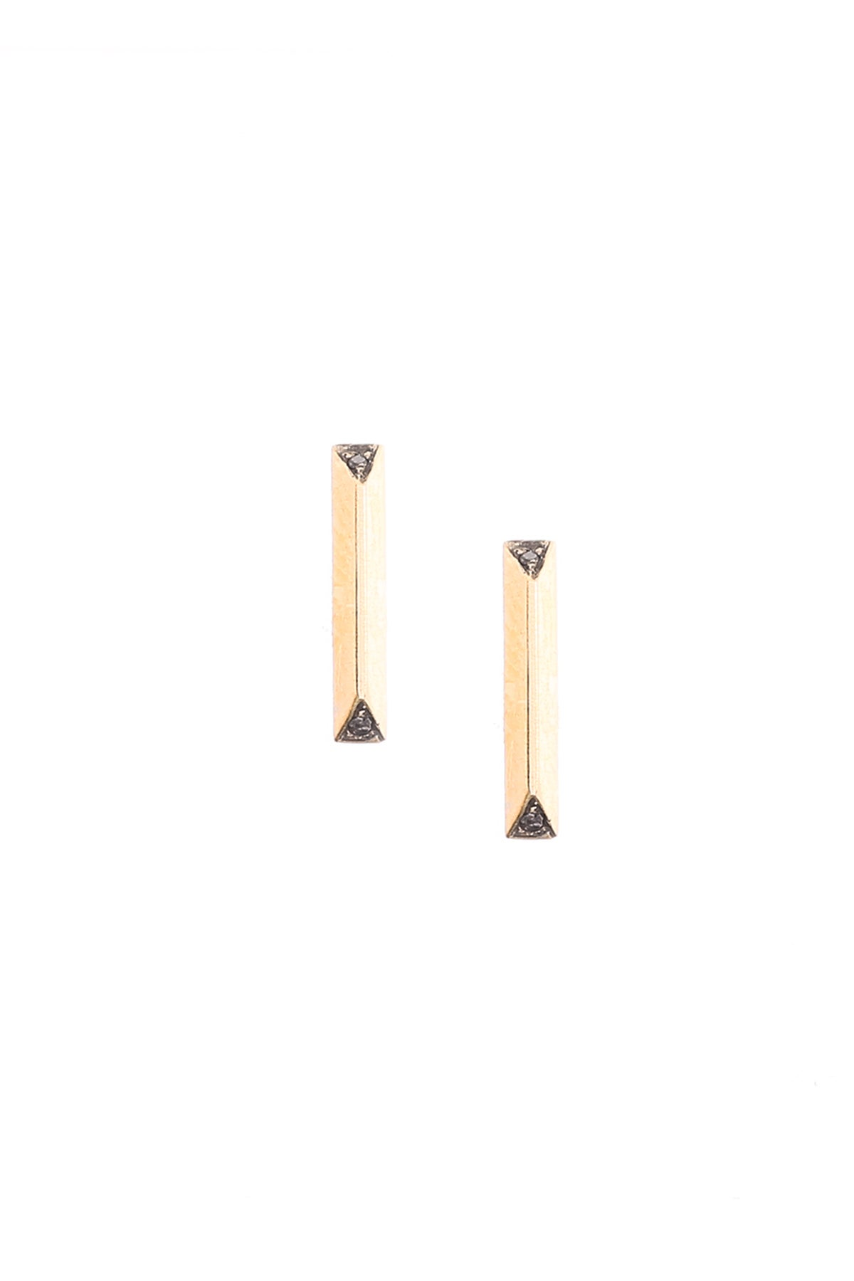 Image of BLACK DIAMOND PRISM STUDS- MEDIUM