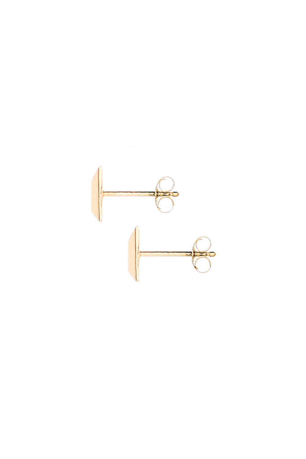 WHITE DIAMOND PRISM STUDS- SMALL