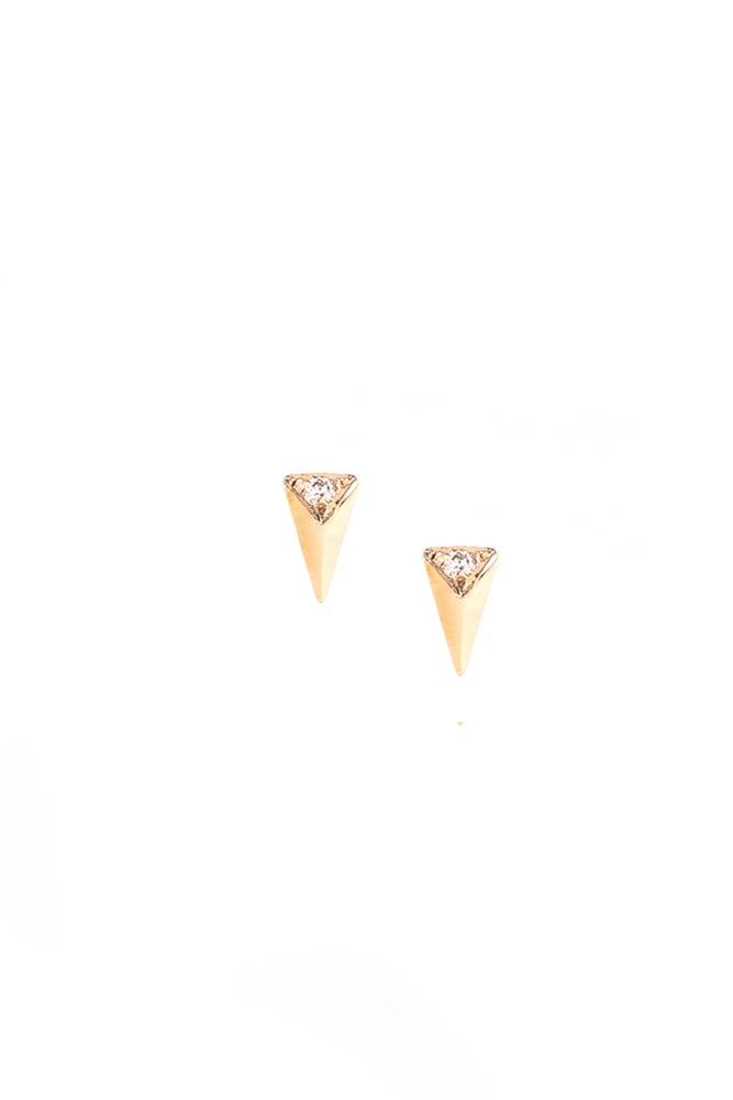 Image of WHITE DIAMOND SABER STUDS