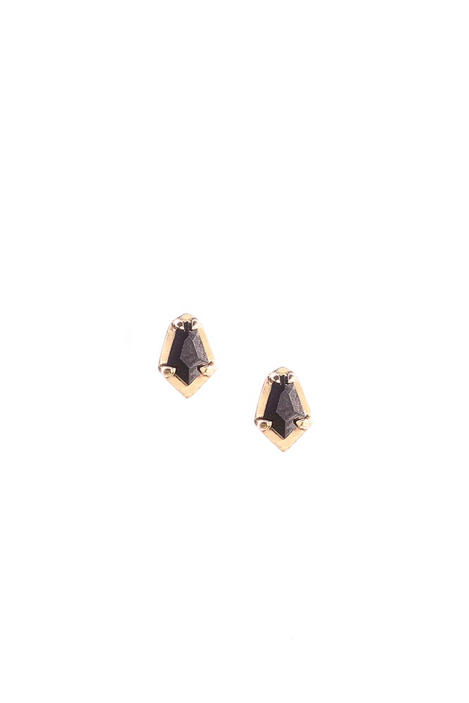 Image of BLACK DIAMOND SCARAB STUDS