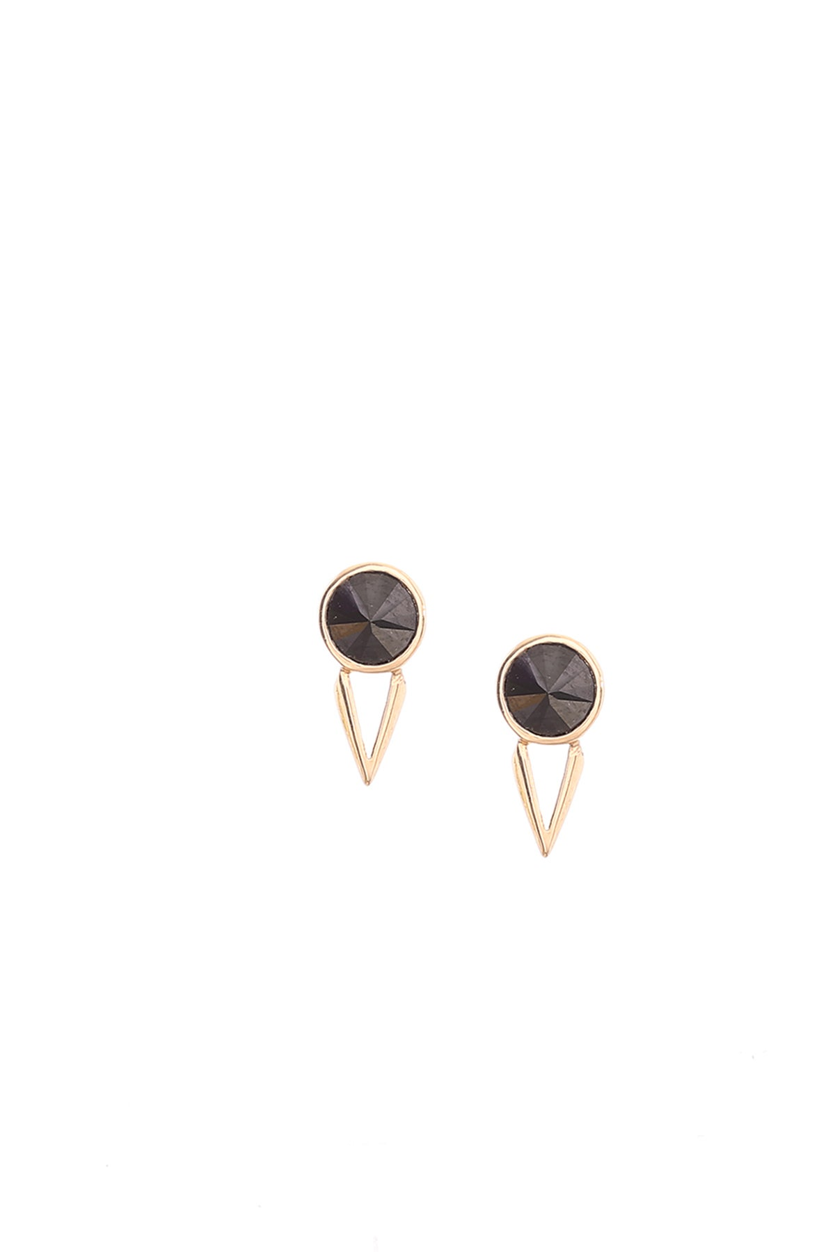 Image of BLACK SPINEL MARU STUDS