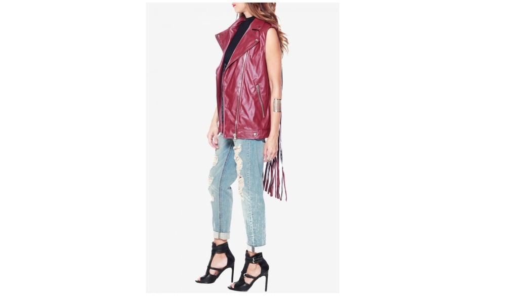 Image of Red Fringe Vest